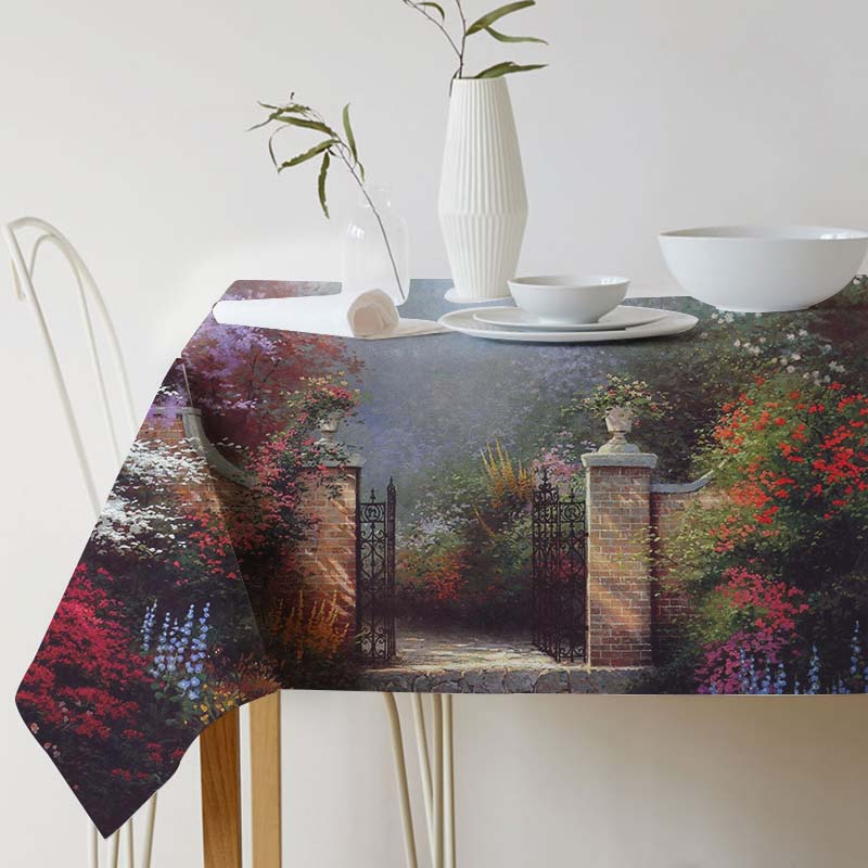 Ink painting tablecloth Pastoral Landscape Tablecloth for table Home Protection decoration Elegant Table cover Thomas Kinkade