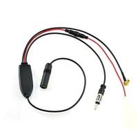 Car Universal DAB DVB FM AM Radio Aerial Antenna Signal Splitter Amplifier Cable Adapter For JVC