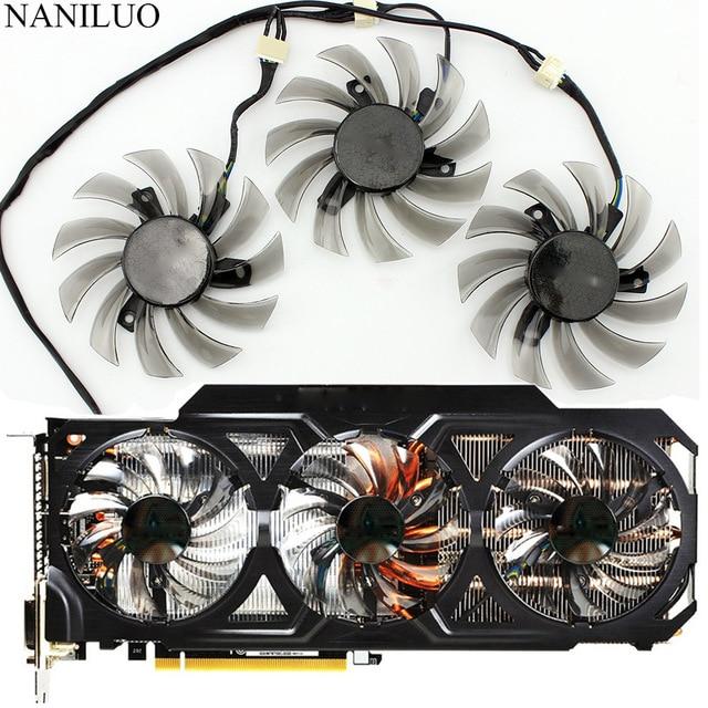Nouveau 75 MM T128010SU 0.35A ventilateur de refroidissement pour Gigabyte GTX 670 680 760 Ti G1 GTX 770 780Ti ventilateur GTX Titan ventilateur carte vidéo refroidisseur ventilateur