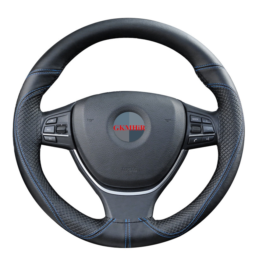 Steering-Wheel-Covers Needles-Thread Genuine-Leather Soft DIY Car Braid 38cm Anti-Wear