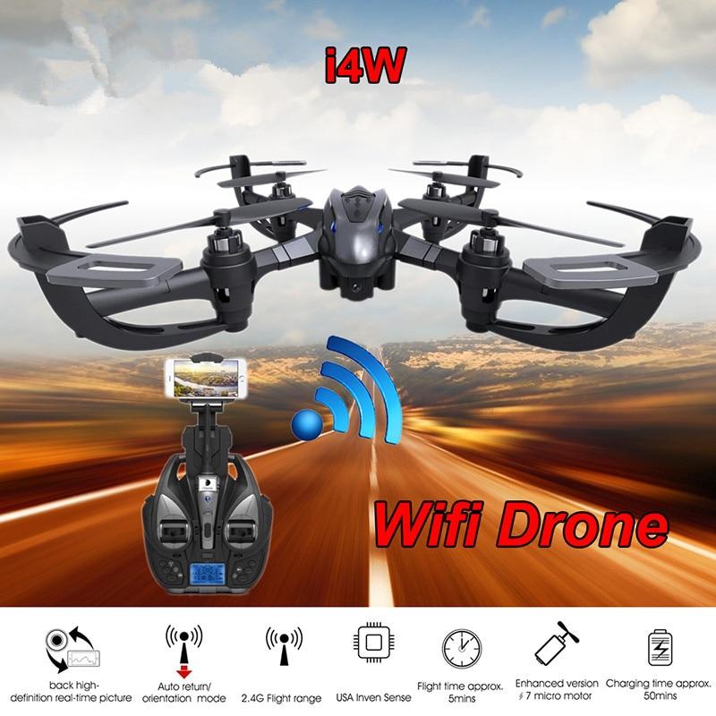 WIFI RC Drone i4w RC Quadcopter With WIFI Camera One Key Return Remote Control toy WIFI