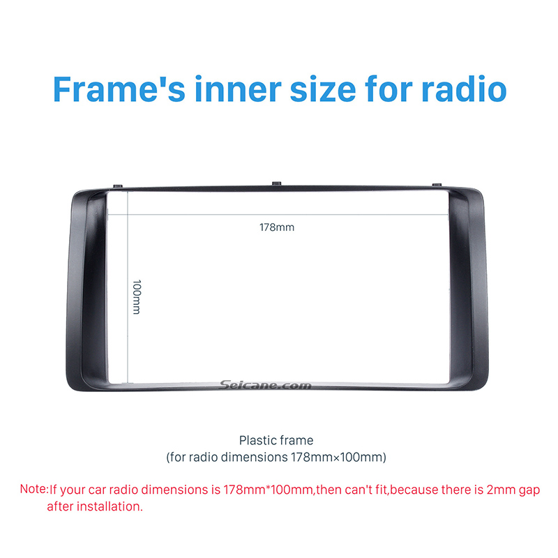 Image 3 - Seicane 178*100mm Double 2Din Car Autoradio Frame for 2003 2006 Toyota Corolla Stereo DVD Player Install Surround Trim Panel Kit-in Fascias from Automobiles & Motorcycles