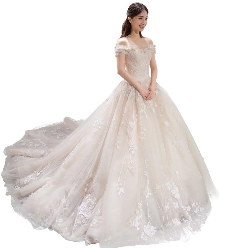 Lange halve mouw moslim kant trouwjurk hoge kwaliteit 2018 bruid - Trouwjurken - Foto 5