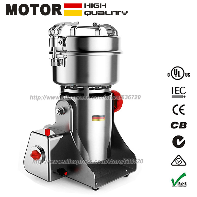 700g Grains Spices  Cereals Coffee Dry Food Grinder Mill Grinding Machine gristmill home medicine flour powder crusher multifunctional 220v chinese medicine grinder electric whole grains mill powder food grinding machine ultrafine herbs crusher