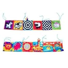 Детская тканевая книжка-кровать, бампер, Знания Вокруг Мультитач, многофункциональная забавная цветная кровать, цветной бампер, Мультяшные цветные детские игрушки