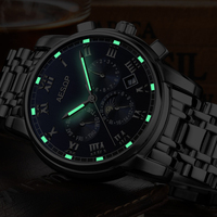 Fashion AESOP Moon Phase Watch Men Stainless Steel Strap Automatic Mechanical Sapphire Glass Waterproof Watch