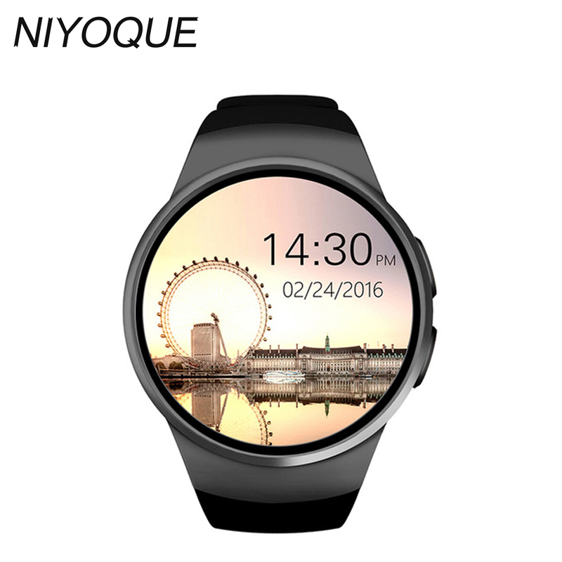 NIYOQUE Smart Watch KW18 Gold Heart Rate Compatible For Apple IOS /Android Bluetooth Reloj MINI SIM Smartwatch Wearable Devices hot sale smartwatch bluetooth smart watch sport watch for ios android phone wearable devices smartphone watch smart electronic