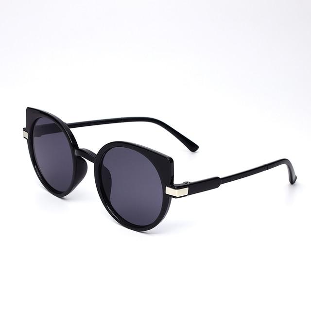 Diseño de marca de señora de la moda de UV400 Gafas de sol de las mujeres marco único ojo de gato Gafas de sol de Gafas