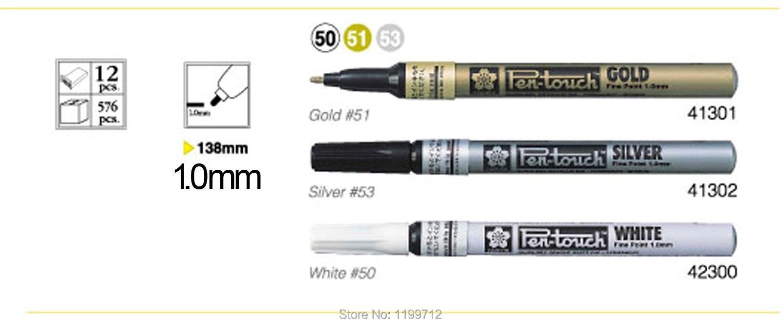 Sakura Pen Touch Paint Marker Silver,Gold,White extra Fine set of 3 New!