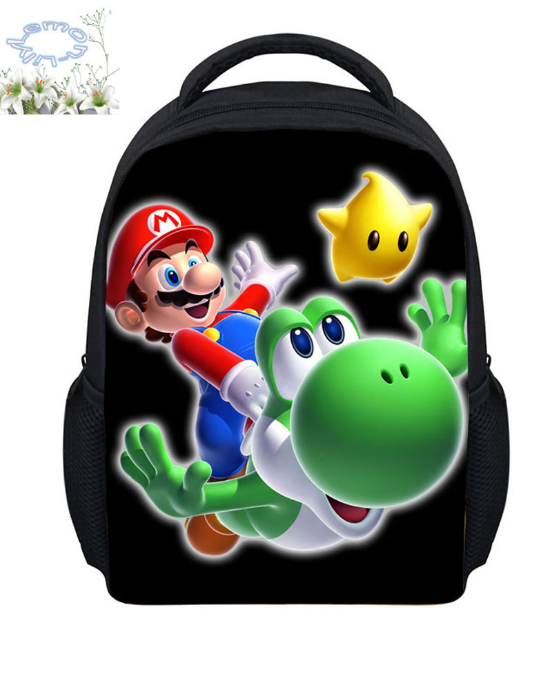Hot Sale 12 Style Super Mario Backpack Boys Girls Mochila -1079