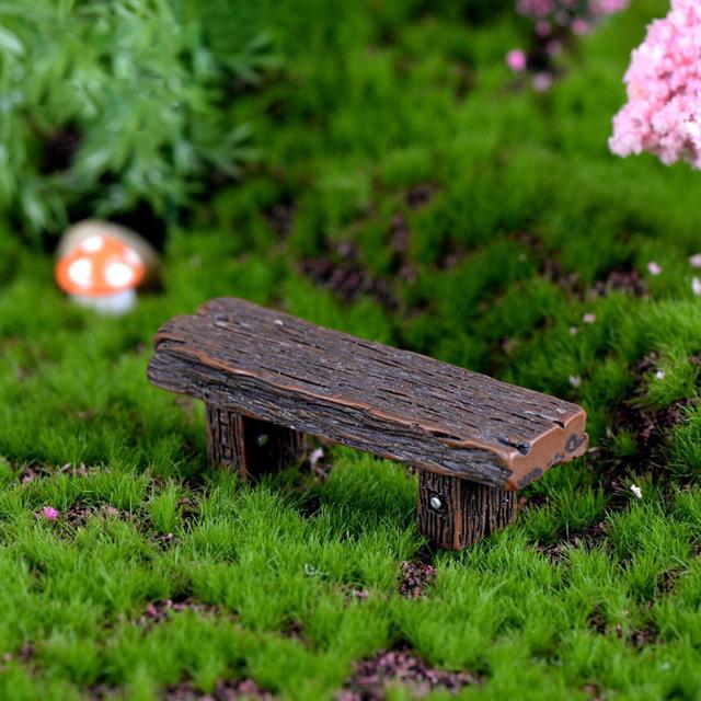 3Pcs Retro Benches Miniature Fairy Garden Bonsai Ornaments Dollhouse Decoration