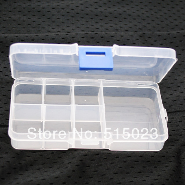 min order $10 Adjustable 7 Compartment Plastic Storage Box Jewelry Earring Tool Container jewelry sealed box & min order $10 Adjustable 7 Compartment Plastic Storage Box Jewelry ...