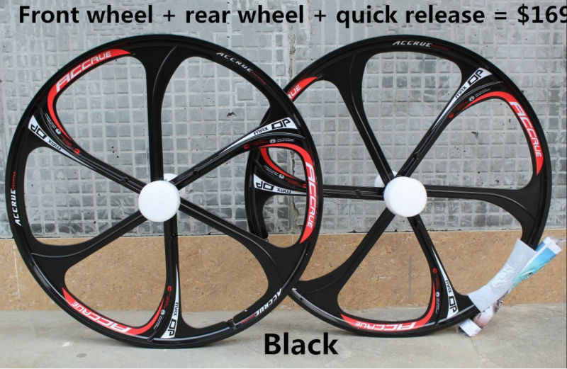 Mountain bike wheel high quality magnesium alloys a body wheel set 26 inch 2 perlin 8, 9 speed cassette bicycle wheel 26 32 holes disc brake mountain bike wheel alloy cassette ball hubs wheel suitable for 7 8 9 speed mountain bike accessories