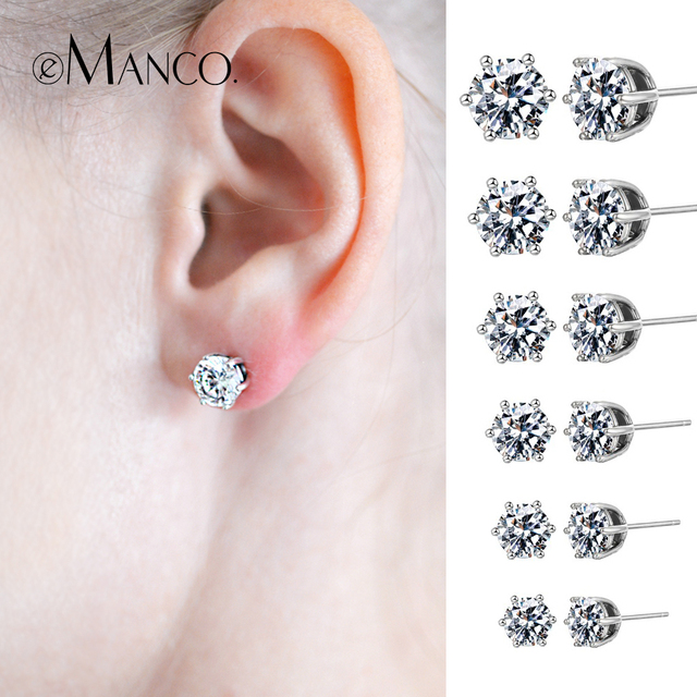 e-Manco Genuine Sterling Silver Costume Jewelry Earrings for Women Lovely Exquis