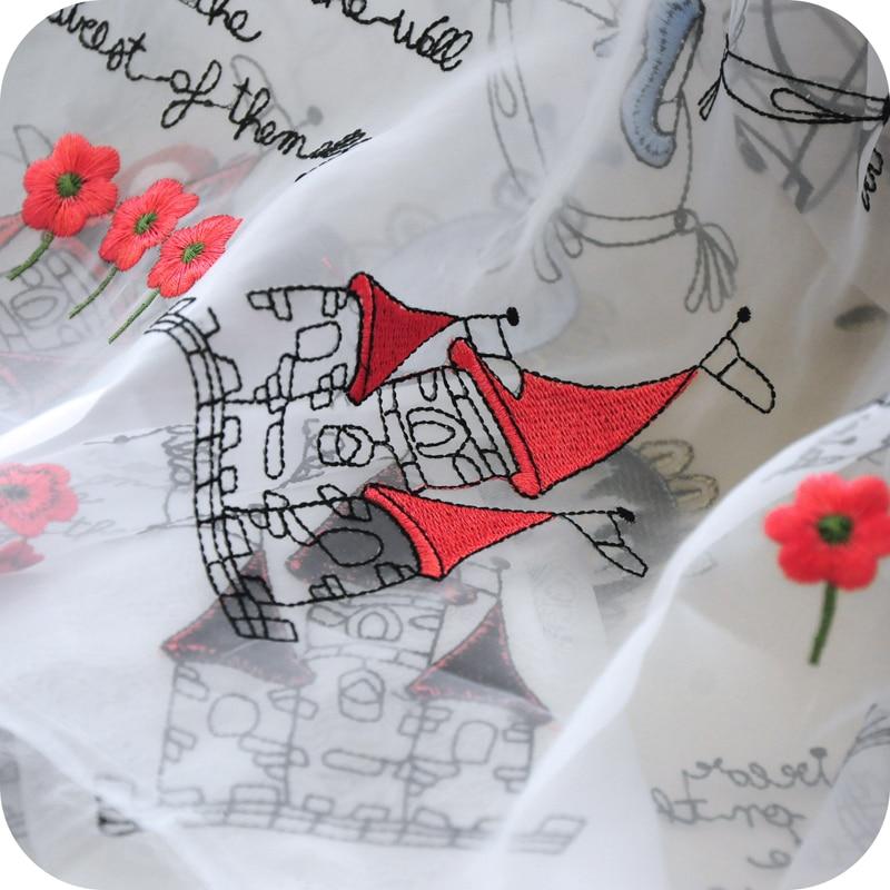 Ogen gauze embroidery laceChildren 39 s fabric princess skirt skirt in Fabric from Home amp Garden