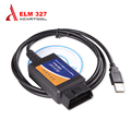Best Quality ELM327 USB Cables Adapter For Most OBD2 Vehicles OBD2 Diagnostic Scanner ELM 327 USB OBD2 Scan Free Shipping