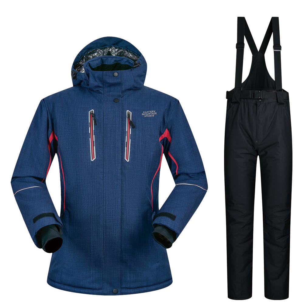 307d83c562 Women Ski Suit Brands 2018 New High Quality Waterproof Thicken Warm Ski  Jacket Pants -30 Degree Winter Skiing Snowboarding Suits