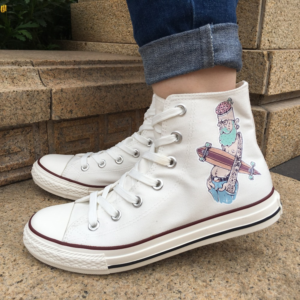 e98979703f82a っون الرجال المرأة حذاء قماش تصميم الصخور و لفة محب الطابع عالية ...