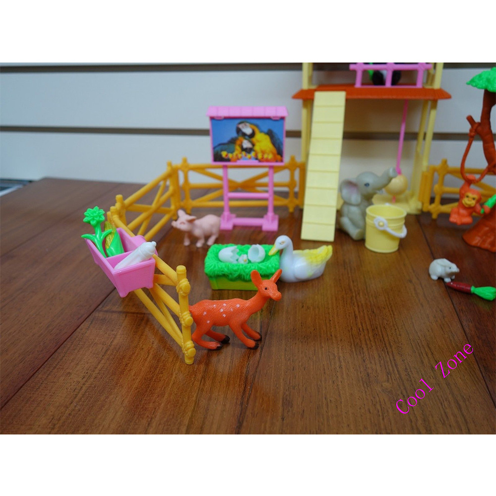 Miniature Furniture Petting Zoo for Barbie Doll House Best Gift Toys for Girl  Free Shipping-in Dolls Accessories from Toys   Hobbies on Aliexpress.com ... 527016bf3831