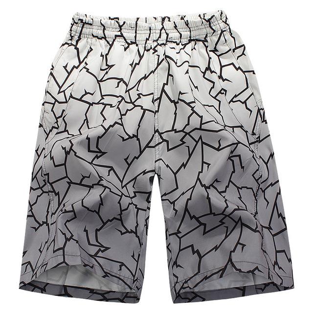 Novo 2015 Da marca de Moda dos homens novos casual Stripe Flor seco calções de praia prancha de surf praia dos homens sunga