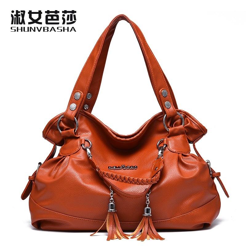 SNBS 100% Genuine leather Women handbags 2017 New ladies classic casual fashion