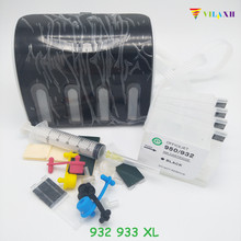 Vilaxh for hp 932 933 D Continuous Ink Supply System refillable ink cartridge Officejet pro 6100 6600 6700 7110 7610 7612