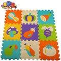Горячий продавать 9 шт./компл. Puzzle ковров ребенка играть коврик головоломки мат ЕВА дети пены ковер мозаичный пол овощей дети плитка