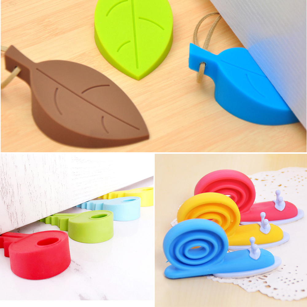 3 PCS/LOT High Quality Baby Care Safety Door Stopper Protecting Product Children Kids Safe Leaves & Snails Baby Corner Protector защитные накладки для дома happy baby фиксатор для двери pull out door stopper