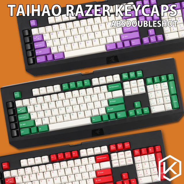 US $35 9 |taihao abs double shot keycaps for diy gaming mechanical keyboard  razer blackwidow ultimate 87 104 [Only keycaps]-in Keyboards from Computer