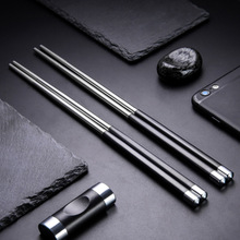 New Arrival 5 Pairs 304 stainless steel Japanese chopsticks set ECO-friendly metal chop sticks