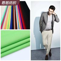 T/R stretch thickening twill woven serge suit suit chemical fiber fabric wholesale