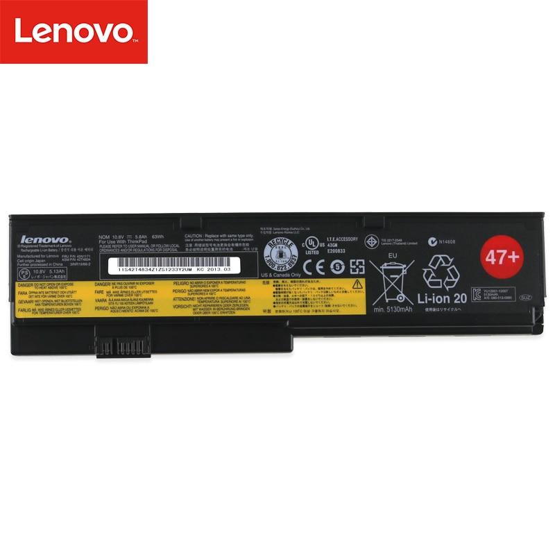 Lenovo original nova substituição da bateria do portátil para lenovo thinkpad x200 x200s x201 x201s x201i 45n1171 42t4834 63wh 5.8ah