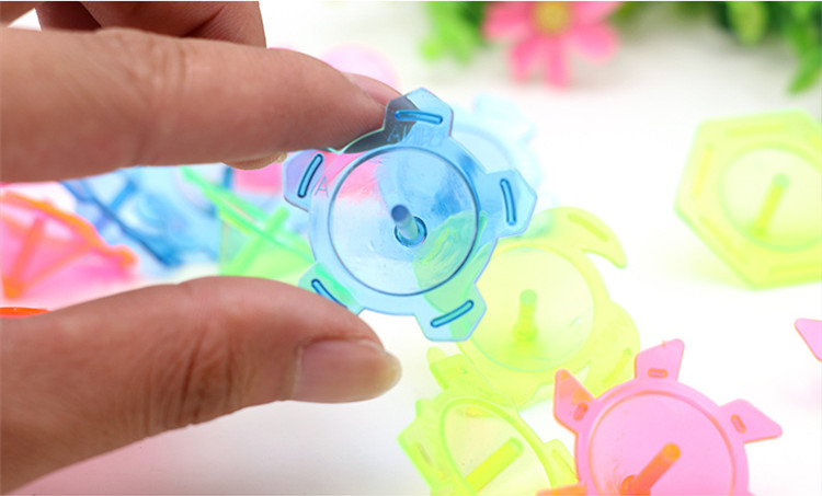 20pcs Plastic Mini Gyro Toys Spinning Kindergarten Single Spinner Hand Spiner Gyro Toys Spinning Top Gifts For Boy Kids