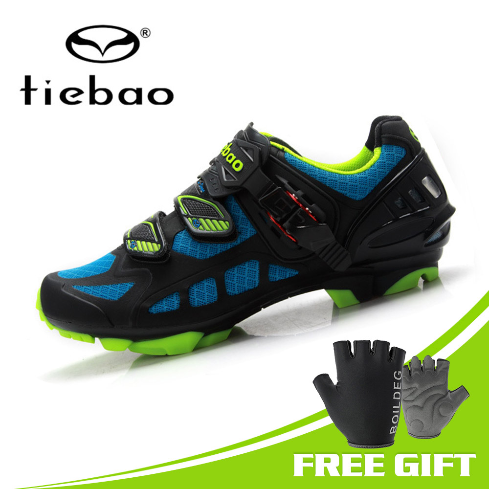 TIEBAO New Men Cycling Shoes Seamless Tech Upper Mountain Bike MTB Shoes Non slip Triathlon Bike