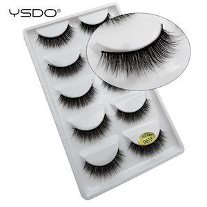 Image 5 - YSDO 5 זוגות 3D מינק ריסים טבעי שיער ארוך 100% דרמטי עין MakeupFake ריסים פלאפי Cilios ריסים G803
