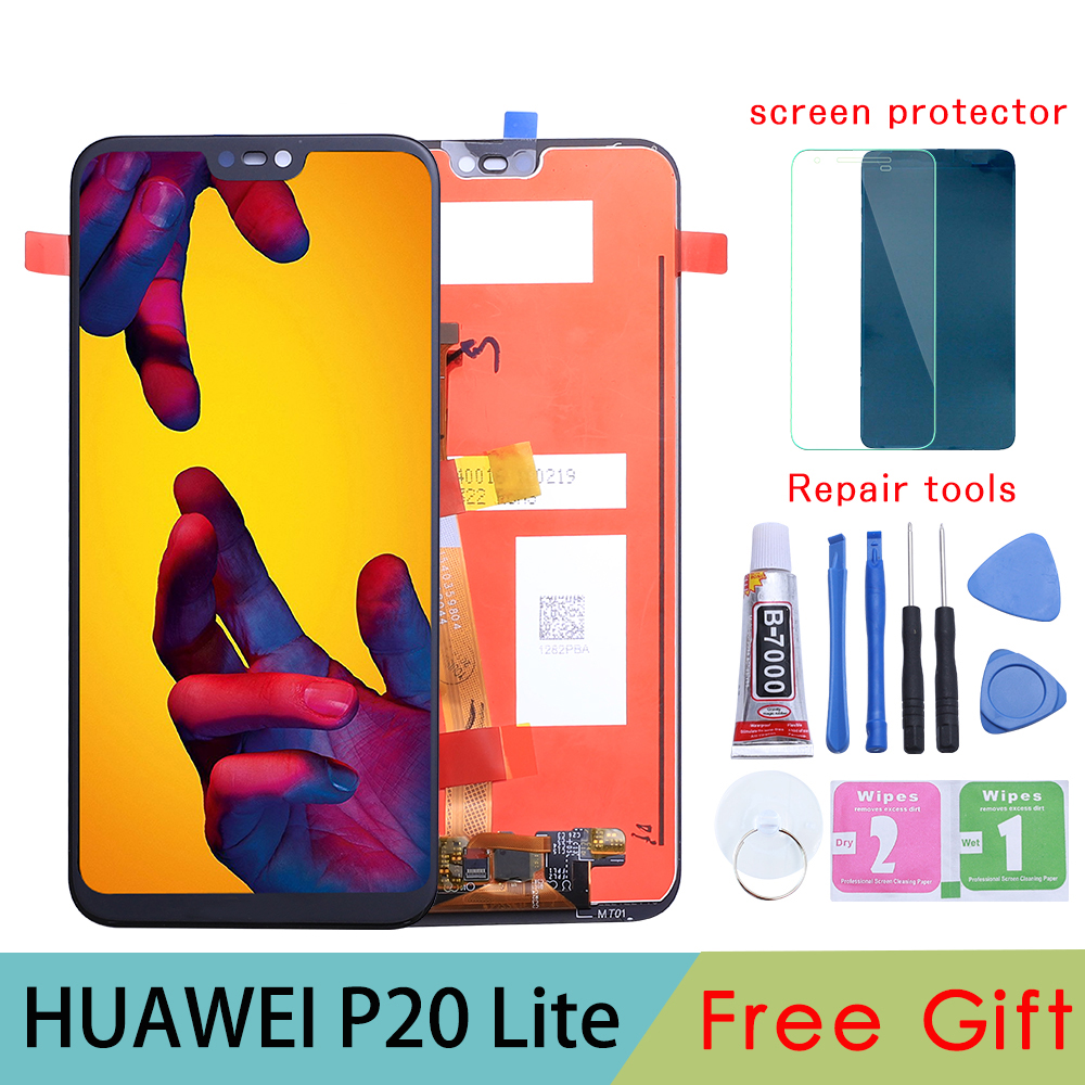"5.84"" 2280x1080 IPS Display For HUAWEI P20 Lite LCD Touch Screen Replacement with Frame Original LCD P20 Lite ane-lx3 nova 3e(China)"