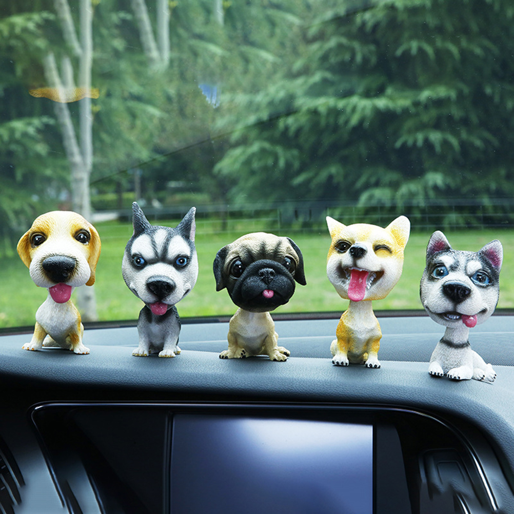 US $5 86 34% OFF|Car Ornaments Nodding Akita Lovely Dog Shaking Head  Interior Decorations Accessories for Decorating Vehicle Cars-in Ornaments  from