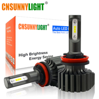 CNSUNNYLIGHT Slim CSP LED Car Headlight Bulbs H4 H7 H11/H8 H1 9005 9006 H13 9004 H27 H3 42W 7000Lm 5500K Auto Headlamp Fog Light