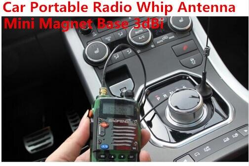 Автомобиль ручной радио SMA магнит штыревая антенна двухстороннее радио автомобиль mini магнитным креплением антенны 3dBi 1.5 м RG174 Кабель