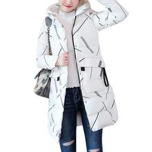 Yiwa Women Down Cotton Padded Jacket Long Warm Hooded Coat Winter Top winter hooded warm coat plus size padded jacket female цены онлайн