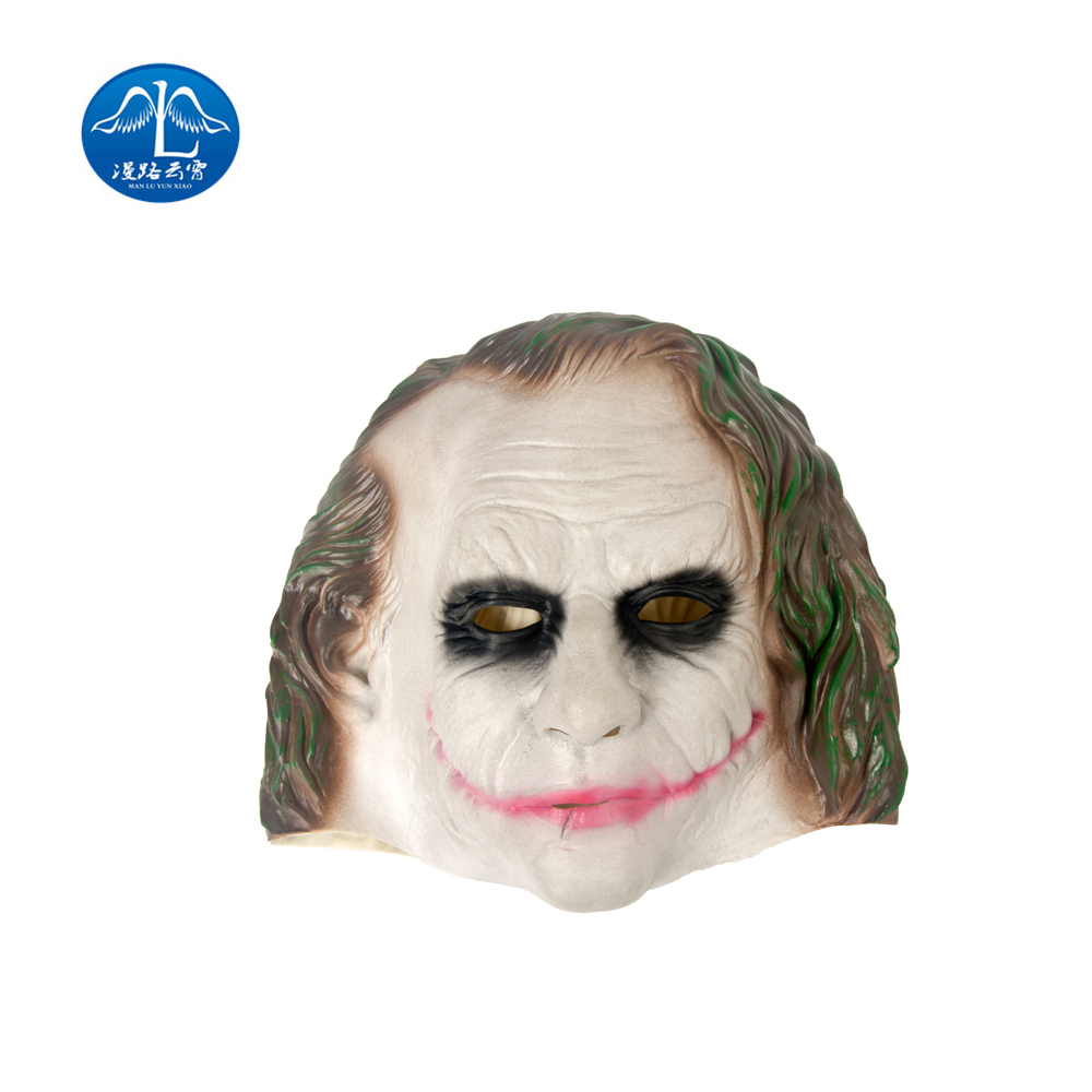 ManLuYunXiao Clown Mask Batman Joker Mask Cosplay Movie Adult Party Masquerade Rubber Latex Mask for Halloween Free Shipping