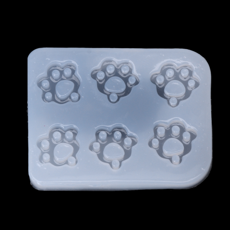 UV Resin Jewelry Mold Silicone Cat Claw Paws Fondant Mold Jewelry Pendant Making Epoxy Resin Mold Tool Craft Christmas