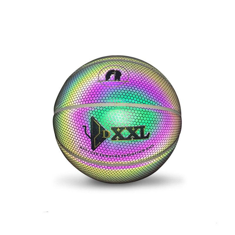 Livraison directe de balle de basket-Ball en caoutchouc de rue lumineuse PU Luminescence en caoutchouc