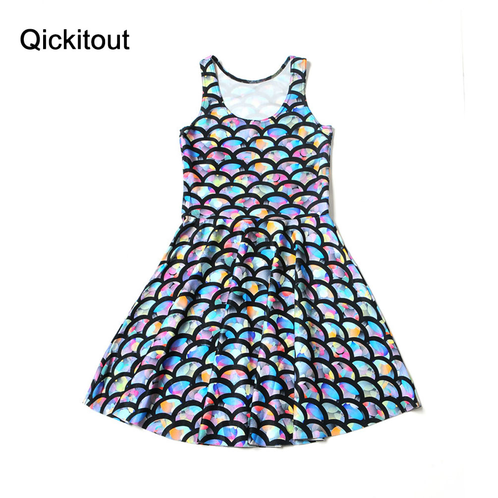 Drop Shipping New Fashion Women Summer Dress Digital Print SKATER DRESS Digital Print Casual Vestidos Mini Dresses
