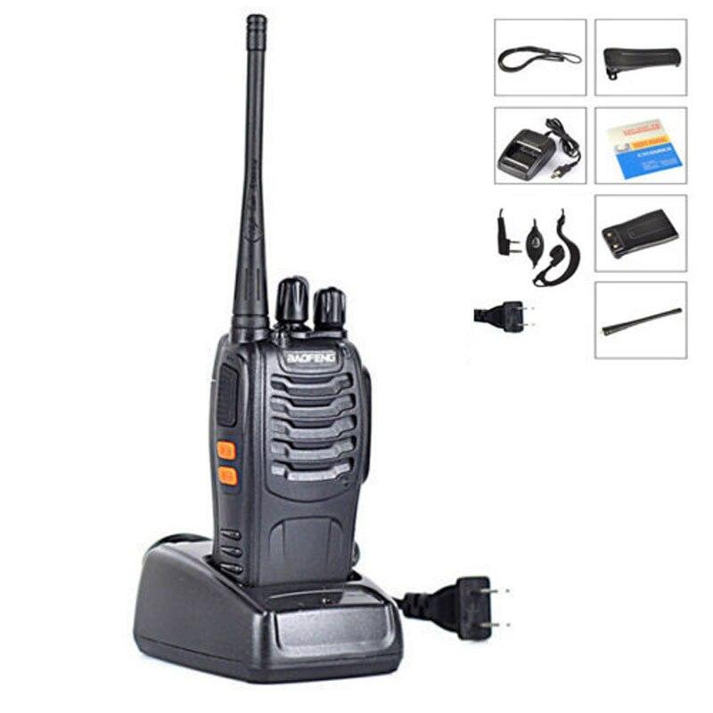imágenes para Baofeng BF-888S Walkie Talkie 5 W Handheld Pofung bf 888 s UHF 400-470 MHz 16CH bidireccional añadir baofeng de Radio CB portátil auricular