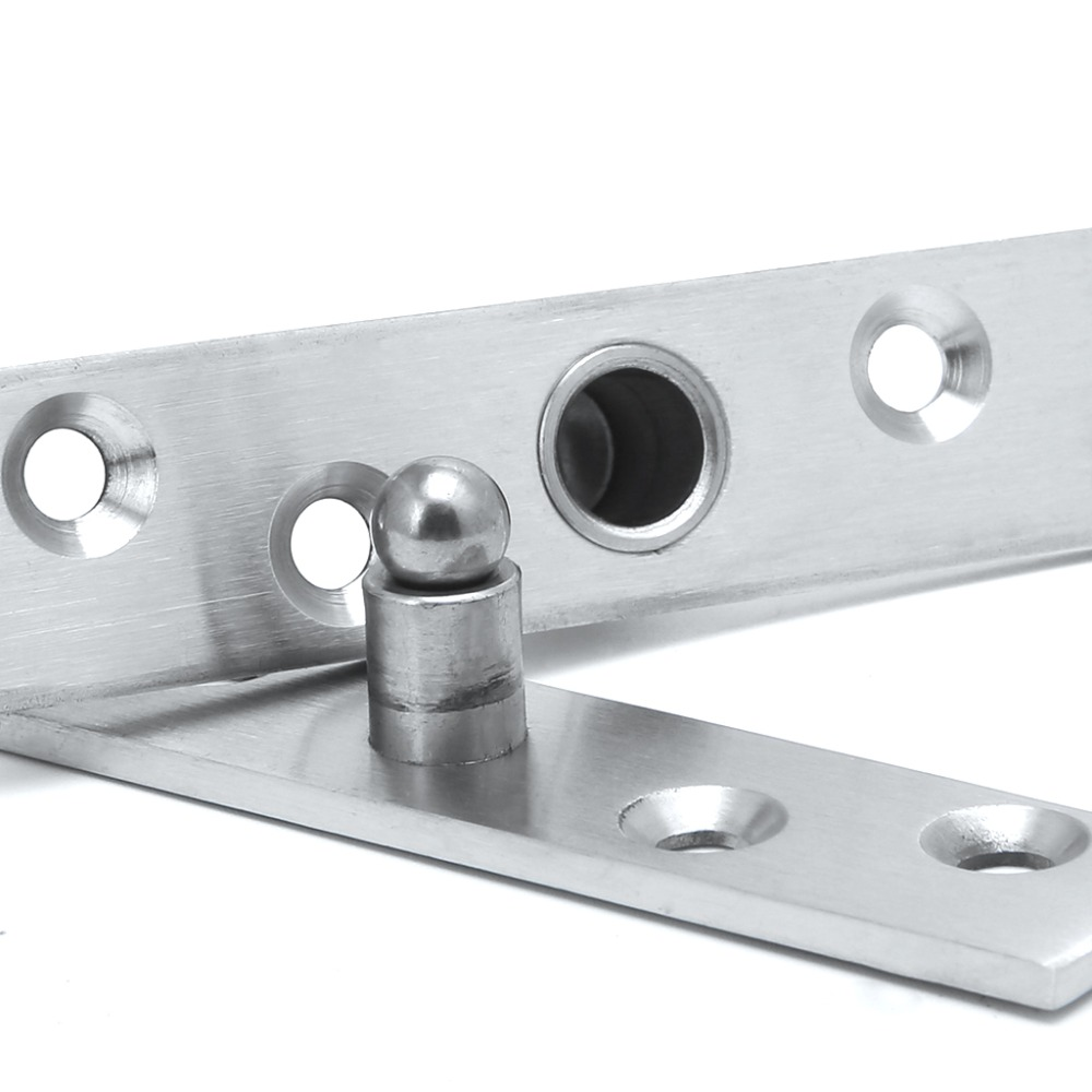 Rotating Hinge 360 Degree Stainless Steel Door Pivot Up Down Shaft 75 95 100mm Furniture Hinges in Cabinet Hinges from Home Improvement