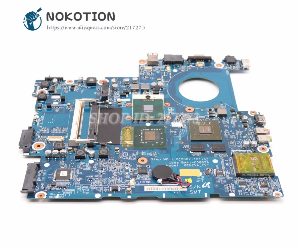 NOKOTION BA41-00863A For Samsung NP-R700 R700 Laptop Motherboard 965PM DDR2 With Video card Free CPU la 5971p for lenovo g455 laptop motherboard hd 4250m ddr2 free cpu