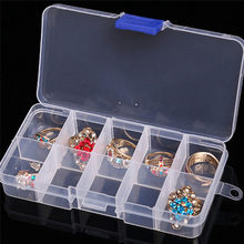 10 cells Plastic Tool Box Case Beads tiny stuff Compartments Containers Makeup Box Jewelry Rings Craft Organizer Storage(China)