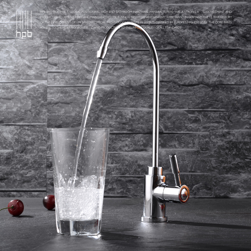 Wuhan copper single pure vegetable washing basin faucet lead free kitchen sink faucet drinking water purifier