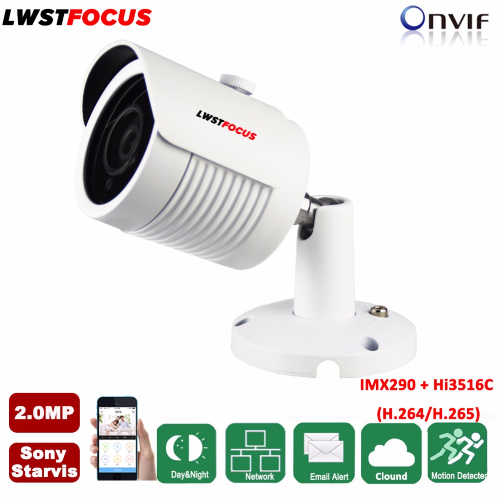 2MP IP Camera 1080P Sony Starvis IMX290+Hi3516C H.265/H.264 Outdoor Waterproof IR CCTV Bullet Security IP Camera POE ONVIF h 265 h 264 2mp 4mp 5mp full hd 1080p bullet outdoor poe network ip camera cctv video camara security ipcam onvif rtsp